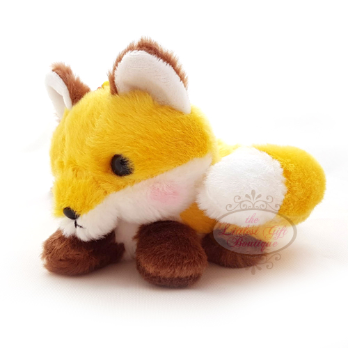 Fox Lying Down Keychain Yellow