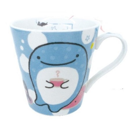 """Jinbei-San"" Mr. Whale Shark Mug Blue"