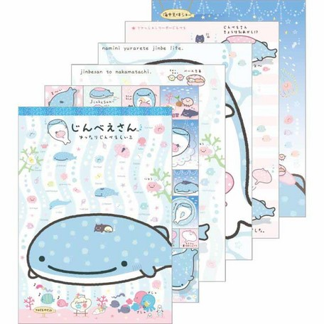 """Jinbei San"" Jinbesan Mr. Whale Shark Notepad Large"