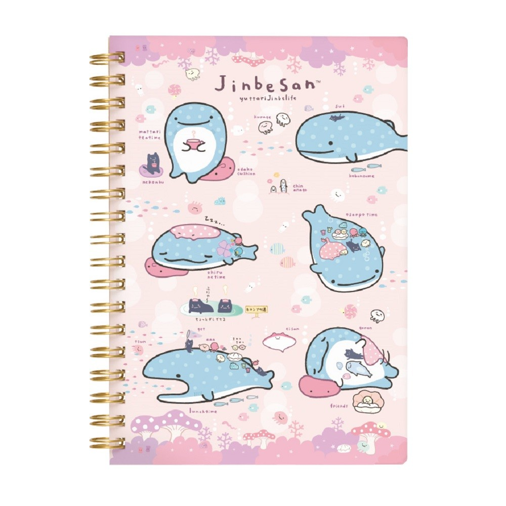 """Jinbei-San"" Mr. Whale Shark Notebook Pink"