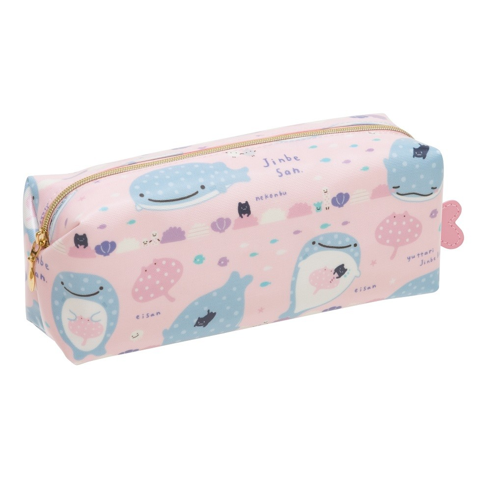 """Jinbei-San"" Mr. Whale Shark Pencil Case Pink"