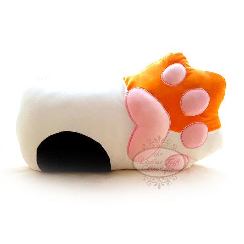 Cat Paw Long Pillow - Calico