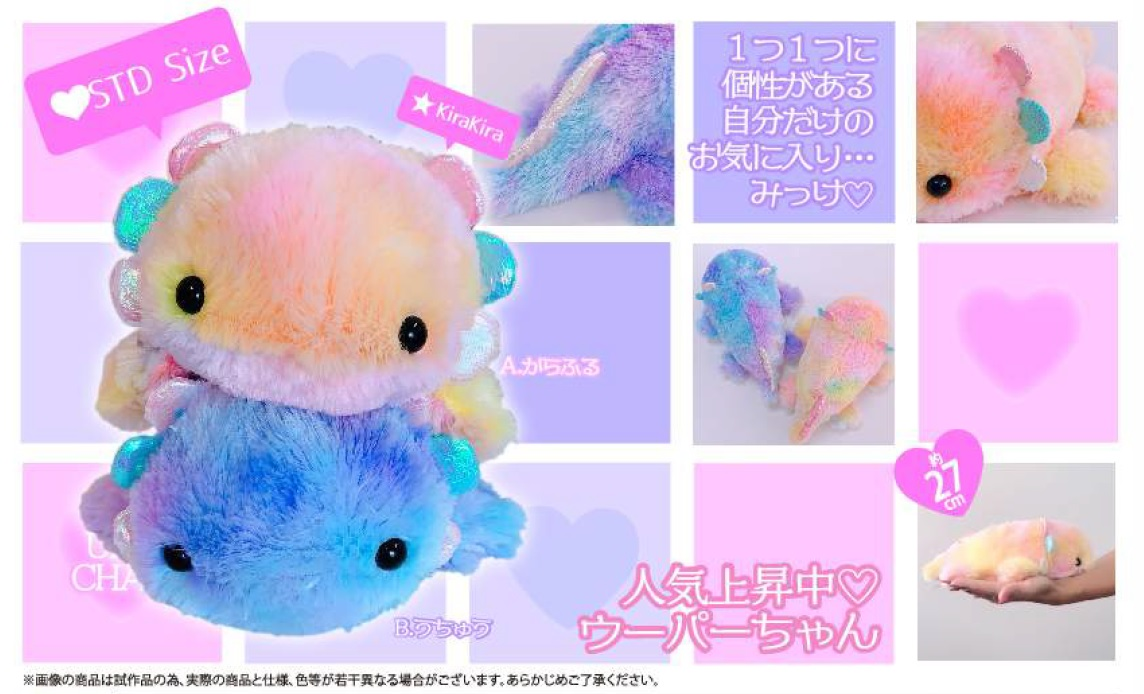 **PREORDER** Axolotl Medium Rainbow