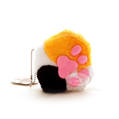 Cat Paw Keychain Plush Calico