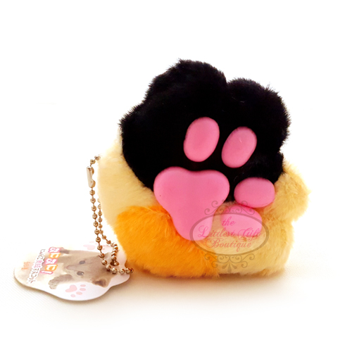 Cat Paw Keychain Plush Orange