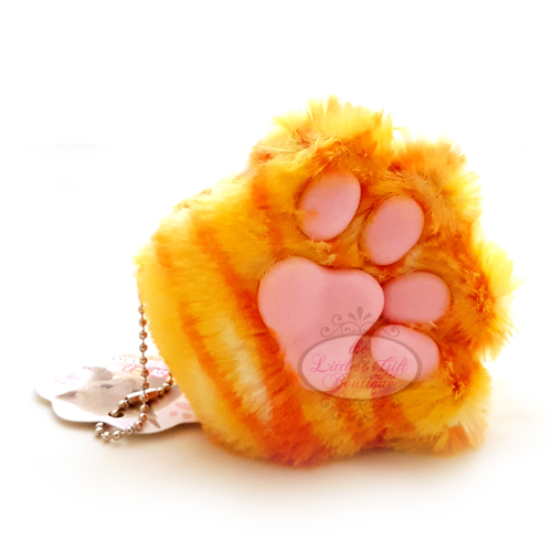 Cat Paw Keychain Plush Tiger