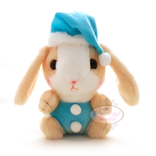 Pote Usa Loppy Rabbit Christmas M 14cm Beige