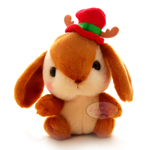 Pote Usa Loppy Rabbit Christmas M 14cm Brown