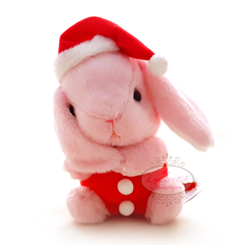 Pote Usa Loppy Rabbit Christmas M 14cm Pink