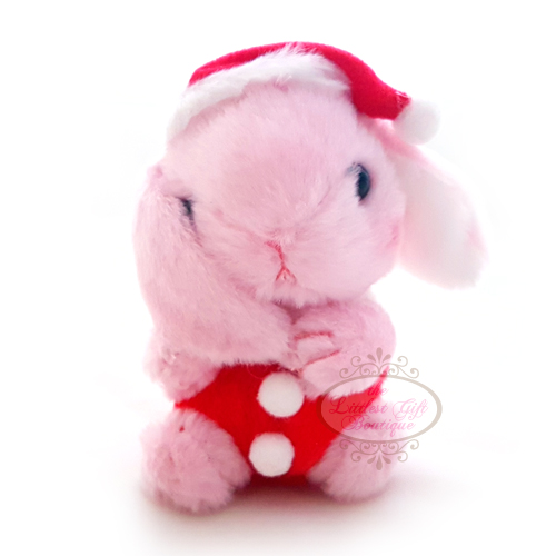 Pote Usa Loppy Rabbit Christmas Keychain 10cm