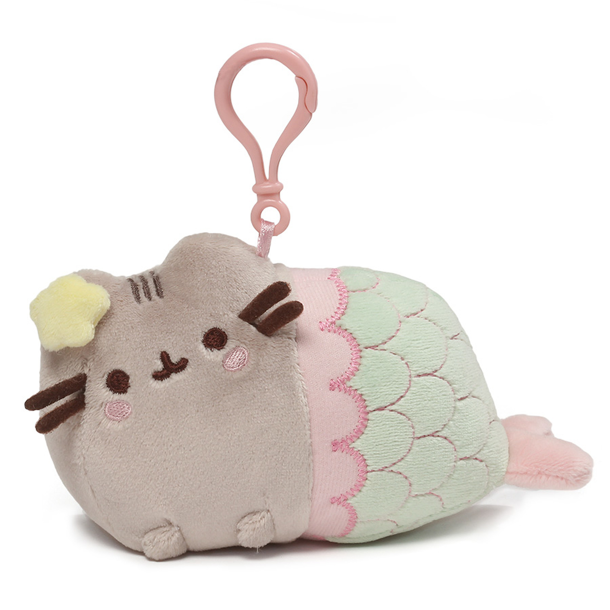 Pusheen Clip-On Plush Mermaid