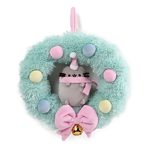 Pusheen Christmas Plush Wreath 10""