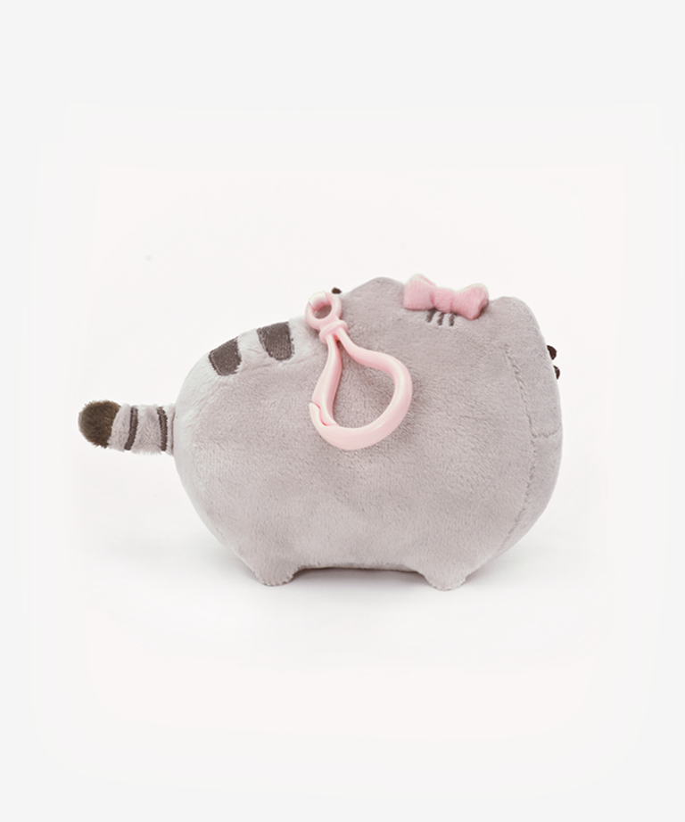 Pusheen Clip-On Plush with Bow