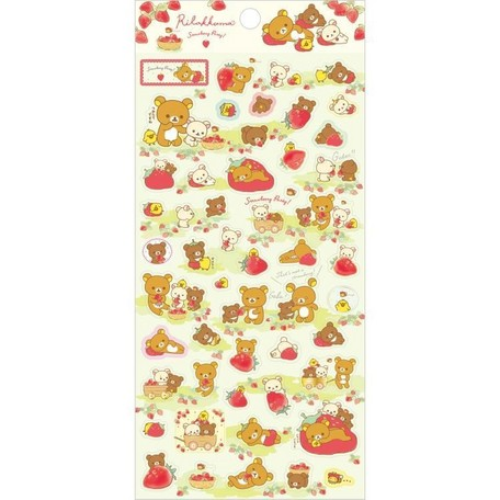 Rilakkuma Strawberry Party Sticker