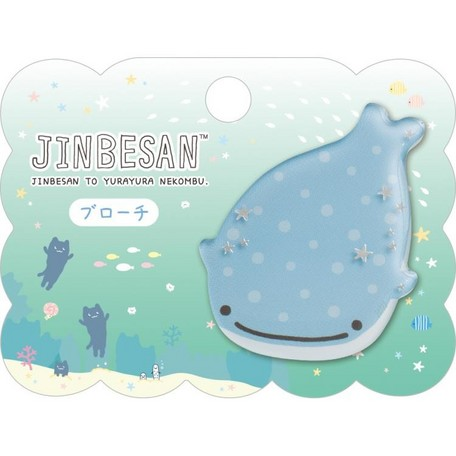 """Jinbei San""Jinbesan Mr. Whale Shark Pin"