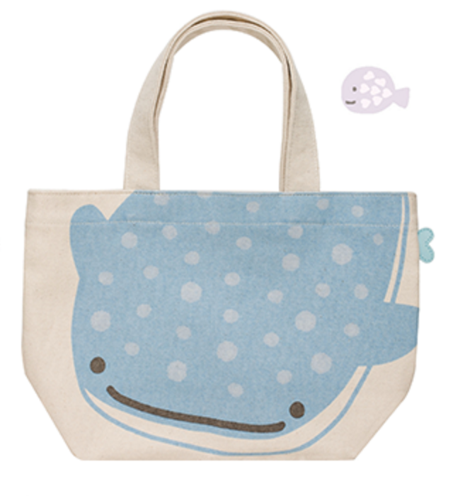"""Jinbei San"" Mr. Whale Shark Tote Bag"