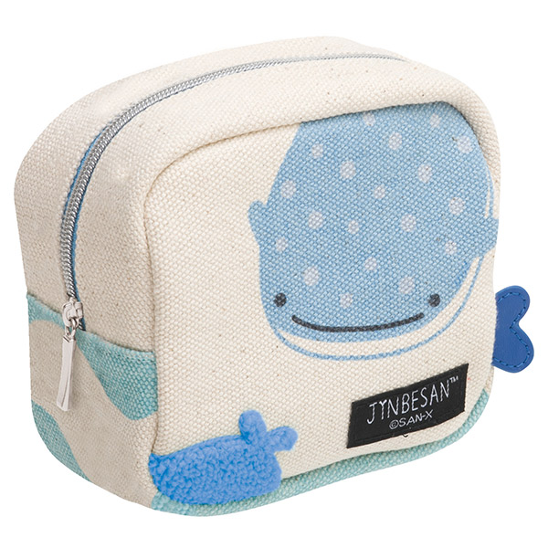 """Jinbei San"" Mr. Whale Shark Square Pouch"