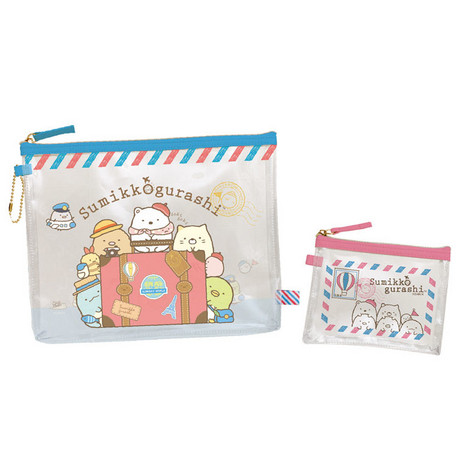 Sumikko Gurashi Travel Clear Pouch 2 Pieces