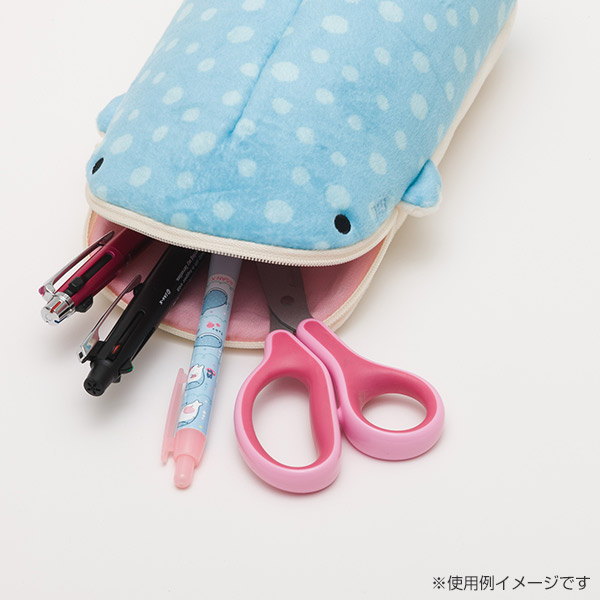 """Jinbei San"" Jinbesan Mr. Whale Shark Flat Pencil Case"