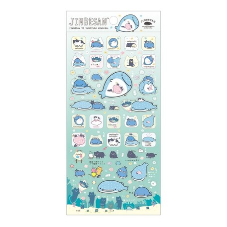 """Jinbei San""Jinbesan Mr. Whale Shark Sticker Sheet #2"