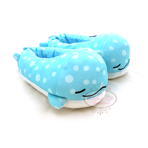 """Jinbei San"" Jinbesan Mr. Whale Shark Slippers Closed Eyes"