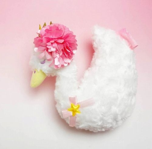[Kiki & Lala] Little Twin Stars Plush S Swan Floral Series 19cm